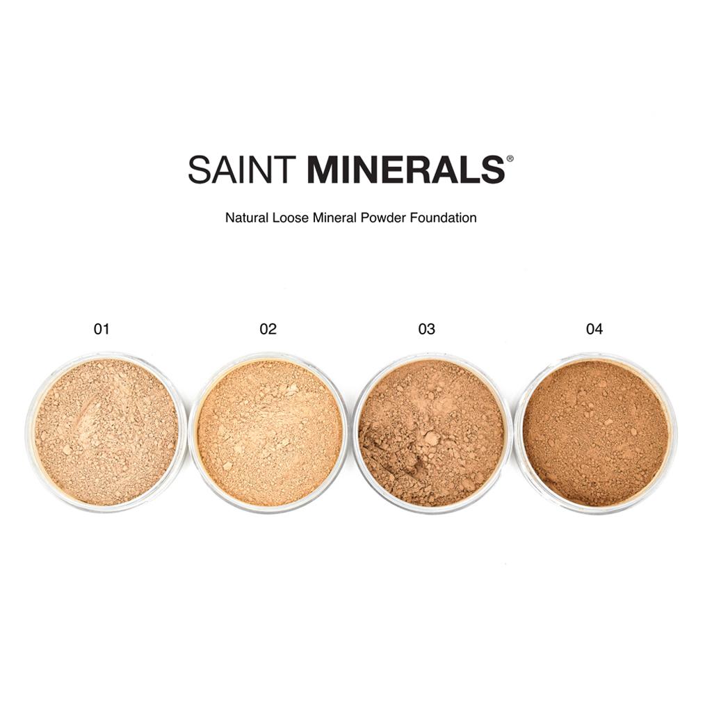 natural loose mineral powder foundation colour shade guide